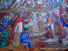 Ex convento de san agust n p tzcuaro p for Mural de juan o gorman
